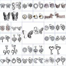 Brand Sterling 925 Silver Ear Stud Dangle Earrings Women CZ Fine Jewelry Gifts