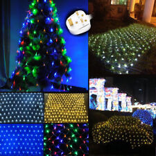 LED Net Mesh Fairy String Light Christmas Wedding Fence Window Party Connectable