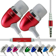 Aluminium In-Ear Earbud Stereo Handsfree Earphone for Bush Spira D3 5.5