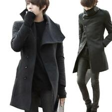 New Mens Vogue Trench Coat Slim Fit Trend Lapel Button Jackets Parka