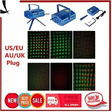 Red & Green Laser Projector Stage Lighting Effect Patterns Voice Xmas Club XP