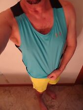 Under Armour Cool Switch Fitted Sleeveless Tank Top Mens  M L Tourquoise NEW