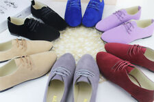 Women Suede Leather Flats Loafers Shoes Casual Ballerina Ballet Pumps Shoes Size
