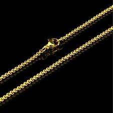 Pea Chain 2 mm 999 24k Gold-plated Unisex Yellow Gold K2864