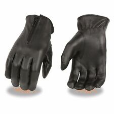 Milwaukee Leather Women's Unlined Leather Gloves W/  Zipper Closure - **SH722
