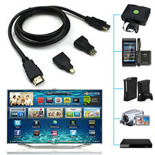 3 in 1 HD High Speed HDMI to HDMI Cable + Micro HDMI Adaptor+ Mini HDMI adapter