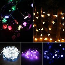 50 Snowflakes Fairy String LED Light Wedding Party Christmas Tree Garland Flower