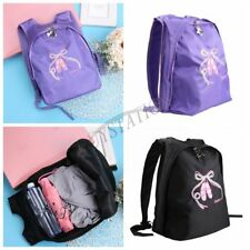 Kid Girl Ballet Dance Shoulder Gym Big Bag Backpack Toe Embroidered Shoes Sports
