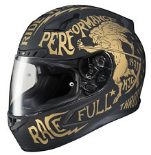 HJC Adult CL-17 Rebel Matte Gold/Black Full Face Motorcycle Helmet Snell DOT