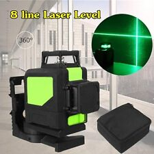 Laser Level 8 Line Green Self Leveling Outdoor 360