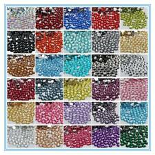 2000PCS Nail Art Flatback 33 COLOR 14 Facets Resin Round Rhinestone Beads 2-6MM