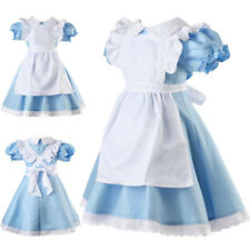 Alice in Wonderland Girl Kid Fancy Dress Maid Lolita Costume Outfits Cosplay New