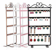 48 Holes Plastic Earrings Display Show Jewelry Rack Stand Organizer Holder IL