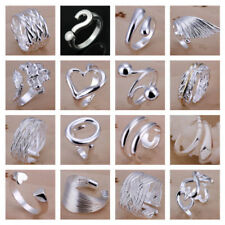 *UK* 925SILVER RING ADJUSTABLE OPEN BAND THUMB RINGS LADIES STATEMENT GIFT WRAP