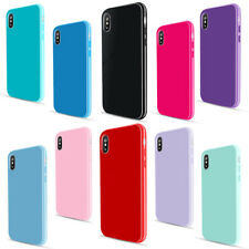 For iPhone X Cute Candy Color Ultrathin Soft Rubber Silicone TPU Back Case Cover