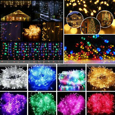 20-100 LED Fairy String Hanging Icicle Snowing Curtain Light Outdoor Xmas Party