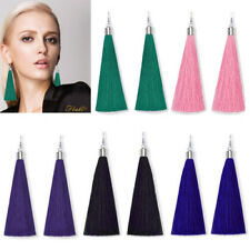 Women Girls Rhinestone Long Tassel Dangle Earrings Thread Fringe Drop Earrings U