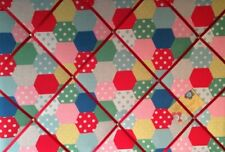 Cath Kidston Patchwork Spot Hand Crafted Fabric Notice Pin Memo Memory Board