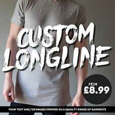 Custom Longline T-shirt Printing / Make your own / Free Custom Design!