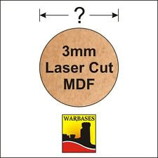 3mm MDF Round Bases for Wargames, suitable for all scales, periods and genres