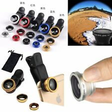3 In1 Clip-on Fish Eye+Macro+Wide Angle Lens Camera Set For iPhone / Samsung