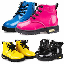 Kids Baby Shoes Toddler Boys Girls Winter Spring Lace Up Boots PU Leather Shoes