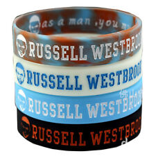 4pcs RUSSELL WESTBROOK 0 Silicone Wristband Rubber Bracelet Basketball Sport