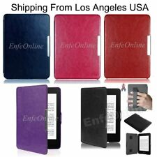 Leather Smart Shell Case Cover  For Amazon Kindle Paperwhite1/2/3 & Kindle 6