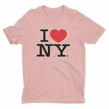 I Love Ny I Love Ny Light Pink Tee Unisex Heart T-Shirt Official New York nycfa