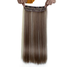 """FEBAY Clip In Synthetic Hair Extension Straight One Piece Hair Weft 24"""" 120g"""