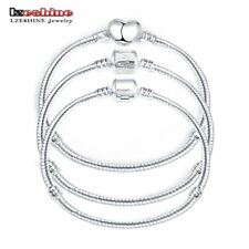 Silver Love Snake Chain Fit Pan Charm Bracelets & Bangles Jewelry Gift For Men W