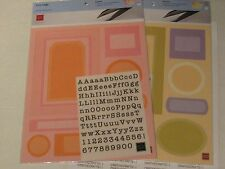 CHATTER BOX LOVE TAGS AND FRAMES WITH ALPHABET RUB-ONS FOR CARDS & SCRAPBOOKING
