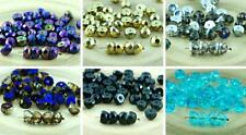 NEW SHAPE 20pcs Half Czech Glass Hill Beads Round Faceted Fire Polished 8mm