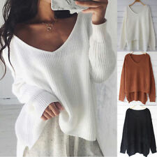 Womens Casual Long Sleeve Knitwear Jumper Cardigan Sweater Pullover Blouse Tops