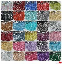 5000PCS Nail Art Flatback 33 COLOR 14 Facets Resin Round Rhinestone Beads 2-6MM