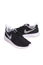 NIKE KIDS GRADE SCHOOL BLACK/WHITE/WHITE/METALLIC SIL ROSHE ONE 599728-021