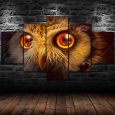 Owl Wall Art Canvas Hanging Painting Home Room Decor Picture Print 5 Panel Bird