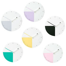 Non Ticking Silent Home decor wood Kids office room Wall Clock Six to nine
