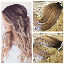 European Remy Tape in Human Hair Extension Ombre Blonde Skin Weft 40pcs/100g