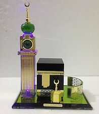 Crystal Glass Makkah Mecca Clock Tower Allah Kaaba Quran Islamic Home Ideal Gift