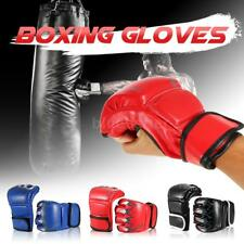 1 Pair Boxing Gloves Grapple Gloves Half Mitts Fist Protector Taekwondo New I2Z9
