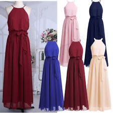 Ladies Long Chiffon Bridesmaid Prom Dress Wedding Evening Formal Party Ball Gown