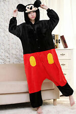 Hot! Unisex Adult Pajamas Kigurumi Cosplay Costume Animal Onesies1 Mickey Mouse