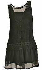 NEW Pretty Angel Clothing Lady Chantal Two Piece Lace Tunic In Black 66565