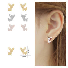Lovely Women Cute Animal Chihuahua Dog Stud Earrings Casual Puppy Jewelry Gifts