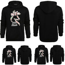 Men's Winter Deer Printed Long Sleeve Pullover Hip Hop Hoodies Outwear Coat Tops