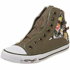 Ed Hardy Authentic HR Atlanta Military Fashion Sneaker Shoes for Kids Slip-on