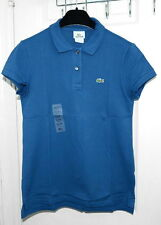 Lacoste Short Sleeve 2 Button Stretch Pique Polo Shirt PF170E Women Size 10 L