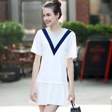 Green And White Color New Fashion Stylish Summer Mini Dress For Women