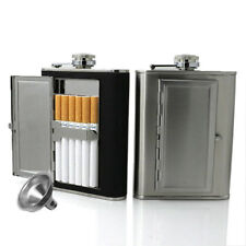 1PC Creative Cigarettes Case Stainless Steel Hip Flask With Funnel Gift Box